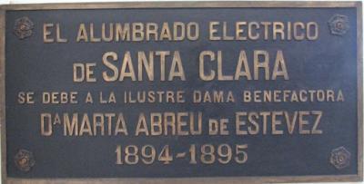 Más de un siglo de alumbrado eléctrico en Santa Clara